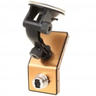"720P 5MP Wide Angle Car DVR Camcorder w/ Night Vision/TV-Out/HDMI/TF Slot - Golden (2.4"" TFT LCD)"