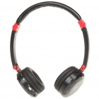 Stylish Crystal USB Rechargeable MP3 Player Headset w/ TF/Line In/FM - Black