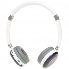 Stylish Crystal USB Rechargeable MP3 Player Headset w/ TF/Line In/FM - Blue