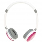 Stylish Crystal USB Rechargeable MP3 Player Headset w/ TF/Line In/FM - Deep Pink