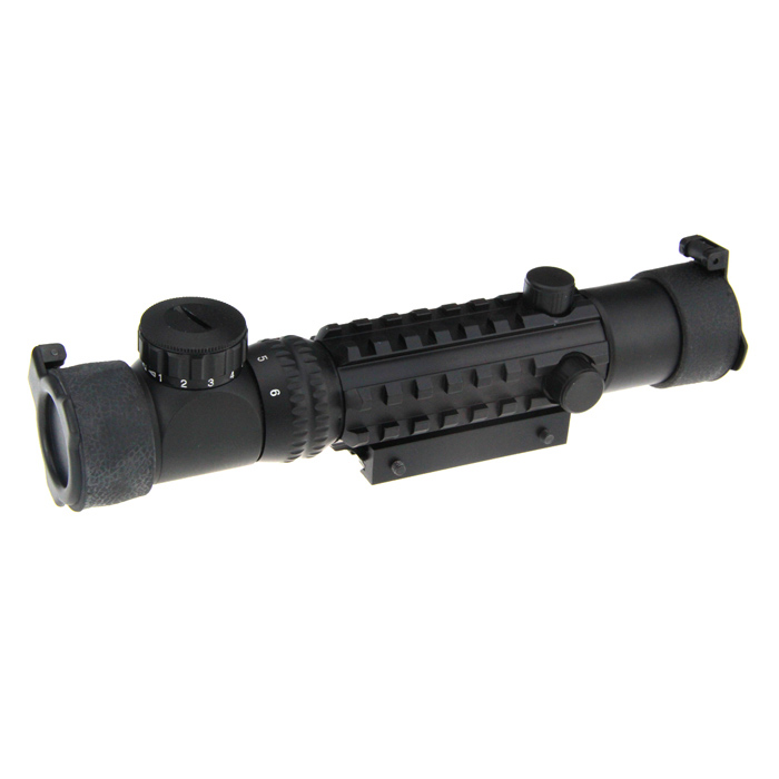 Professional 2~6x28 Rifle Scope with Gun Mount
