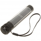 Mini Solar-powered 5-LED White Light Flashlight/Torch with Strap - Black
