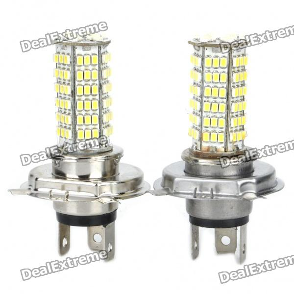 H4 4W 7000K 300-Lumen 120-LED White Light Car Fog Lamp Bulbs - Pair (12~14V) 2012 2013 2014 2015 2016year antara day lamp led free ship 2pcs car detector antara fog lamp car covers antara