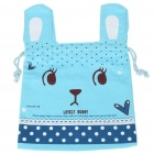 Portable Cute Rabbit Style Carrying Bag Pouch - Blue