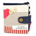 Fashion Cloth Folding Wallet