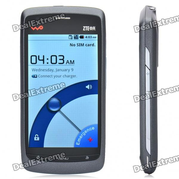 "ZTE V880 3.5"" Capacitive Screen Android 2.2 WCDMA 3G Single SIM w/ WiFi - Grey"