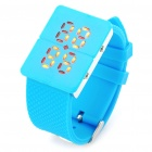 Fashion Water Resistant Red 28-LED Wrist Watch with Date Display - Blue (1xCR2032)