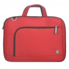 "Protective Nylon Handbag One Shoulder Bag for 14"" Laptop Notebook - Red"