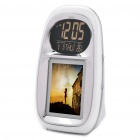 "Portable 2.4"" Digital Photo Frame with Alarm/Thermometer/Calendar (8MB/3xAAA)"