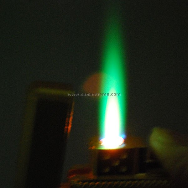 2 In 1 Green Jet Flame Lighter With Clock Free Shipping