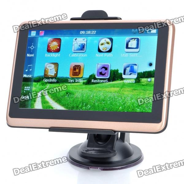 5.0 Touch Screen WinCE 6.0 GPS Navigator w/ FM/TF/Europe Map (4GB)