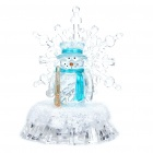 Colorful Light Desktop Decoration Lamp - Snowman (2 x CR1220)
