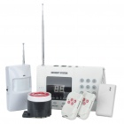 "1.3"" LED Wired & Wireless Home Security Anti-Theft Alarm System Kit Set"