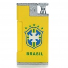 Shock-Your-Friend Electric Shocking Brazil Logo Butane Gas Lighter - Practical Joke (4xLR41)