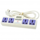 1.5 LCD 4-Outlet Timing Function Electric Power Bar Strip (3-Flat-Pin Plug)