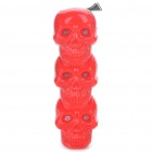Shock-Your-Friend Electric Shocking 3-Skull Style Toy with Red/Green/Yellow Flashing Light (4xLR41)