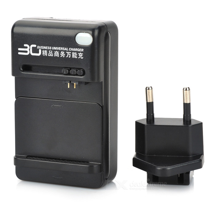 Universal Positive and Negative Electrode Auto Identification Charging Dock with EU Adapter - Black