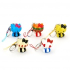 Buy Multicolor Hello Kitty Figure Toys with Keychain + Strap - (5 Piece Pack)
