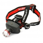 Retractable 1-LED White Light Zoom Headlight - Black