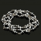 Stylish Silver Crystal Sweater Necklace (127cm-Length)