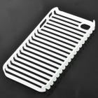 Protective Fashion Stripe Style PVC Case for   Iphone 4 - White