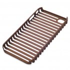 Protective Fashion Stripe Style PVC Case for Apple iPhone 4 - Brown