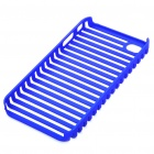 Protective Fashion Stripe Style PVC Case for Apple iPhone 4 - Blue