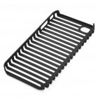 Protective Fashion Stripe Style PVC Case for Apple iPhone 4 - Black