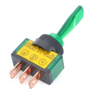 Car Toggle Switch with Green LED Indicator (DC 12V / Vehicle DIY)