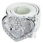 Fashion PU Leather Belt with Buckle for Women
