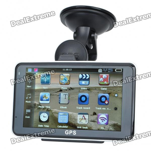 "5.0"" Touch Screen LCD WinCE 5.0 GPS Navigator w/ Camera/FM + Internal 4GB Europe Maps - Black"