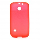 Protective Soft PVC Back Case for Huawei C8650 - Red