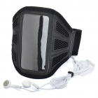 Trendy Sports Armband with Earphone for iPod Touch 4 - Black