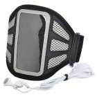 Trendy Sports Armband with Earphone for iPod Touch 4 - Grey