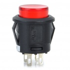 Empuje Car Button Switch con rojo Indicador LED (12V / Vehículo DIY)