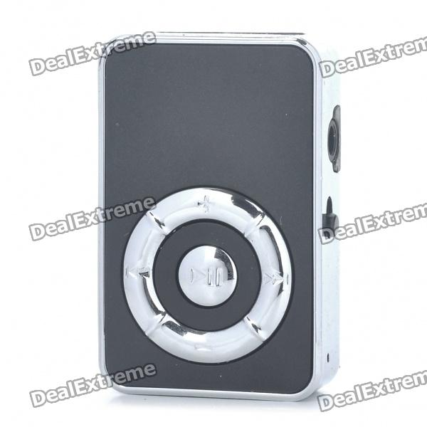 USB Rechargeable Screen-Free MP3 Player w/ 3.5mm Audio Jack/TF Slot - Black
