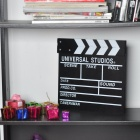 Wooden Movie Action Clapperboard Message Board - Black