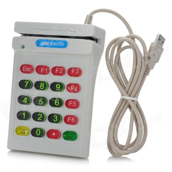 USB POS Numeric Keypad Card Reader - White рейлинг угловой 90° esprado platinos