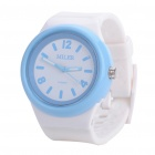 Fashion Sports Water Resistant Wrist Watch w/ Replacement Silicone Band (1 x 377)
