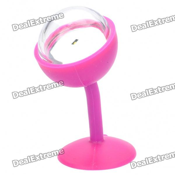 Cute Mini Flexible Suction Cup Style Light Lamp - Random Color (3xAG8)