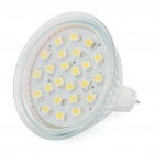 MR16 1.3W 24 SMD LED Warm White Light Ceiling Lamp Bulb - Silver + White (11-18V)