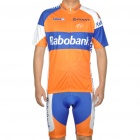 2011 Rabobank Team Short Sleeve Bicycle Bike Riding Suit Sports Clothes Set (Size-XL/170~180cm)