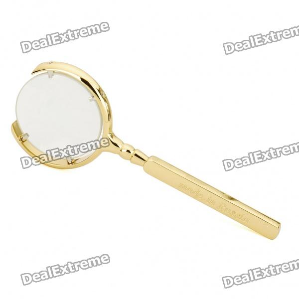70mm Handheld 8X Magnifier - Golden