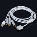 USB/AV Cable for iPod Classic/Nano/Video/Touch/iPhone 3G/3GS/4 (152CM-Length)