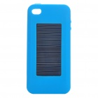 1500mAh USB/Solar Powered External Emergency Battery with Silicone Case for iPhone 4/3G/3GS (Blue)