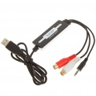 EZCAP USB 2.0 Audio Grabber Capture - Black + White