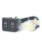 ST0408 Auto Double Power Window Switch - Black (12V)