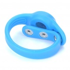 Creative Fashion Silicone Wrist Watch with Button Closure - Blue (1xAG3)