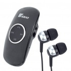 AC Rechargeable Bluetooth V2.1 A2DP Stereo Audio Receiver w/ 3.5mm Earphone - Black