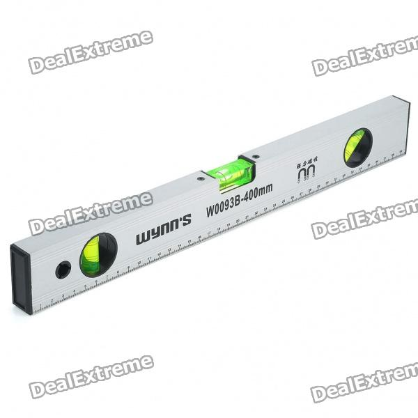 400mm Magnetic Level Ruler - Silver